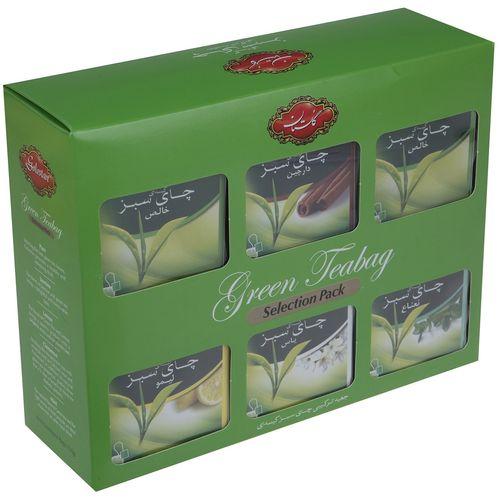 چای سبز کیسه ای ترکیبی گلستان بسته 60 عددی