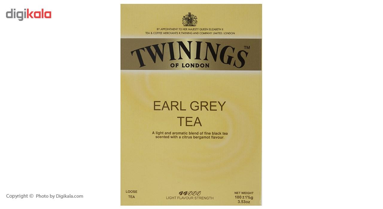 چای سیاه توینینگز ارل گری مقدار 100 گرم