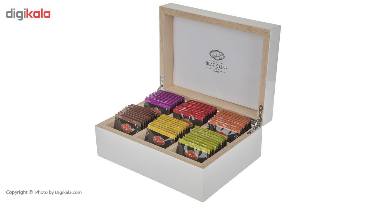 چای کیسه ای جعبه ای گلستان بسته 72 عددی