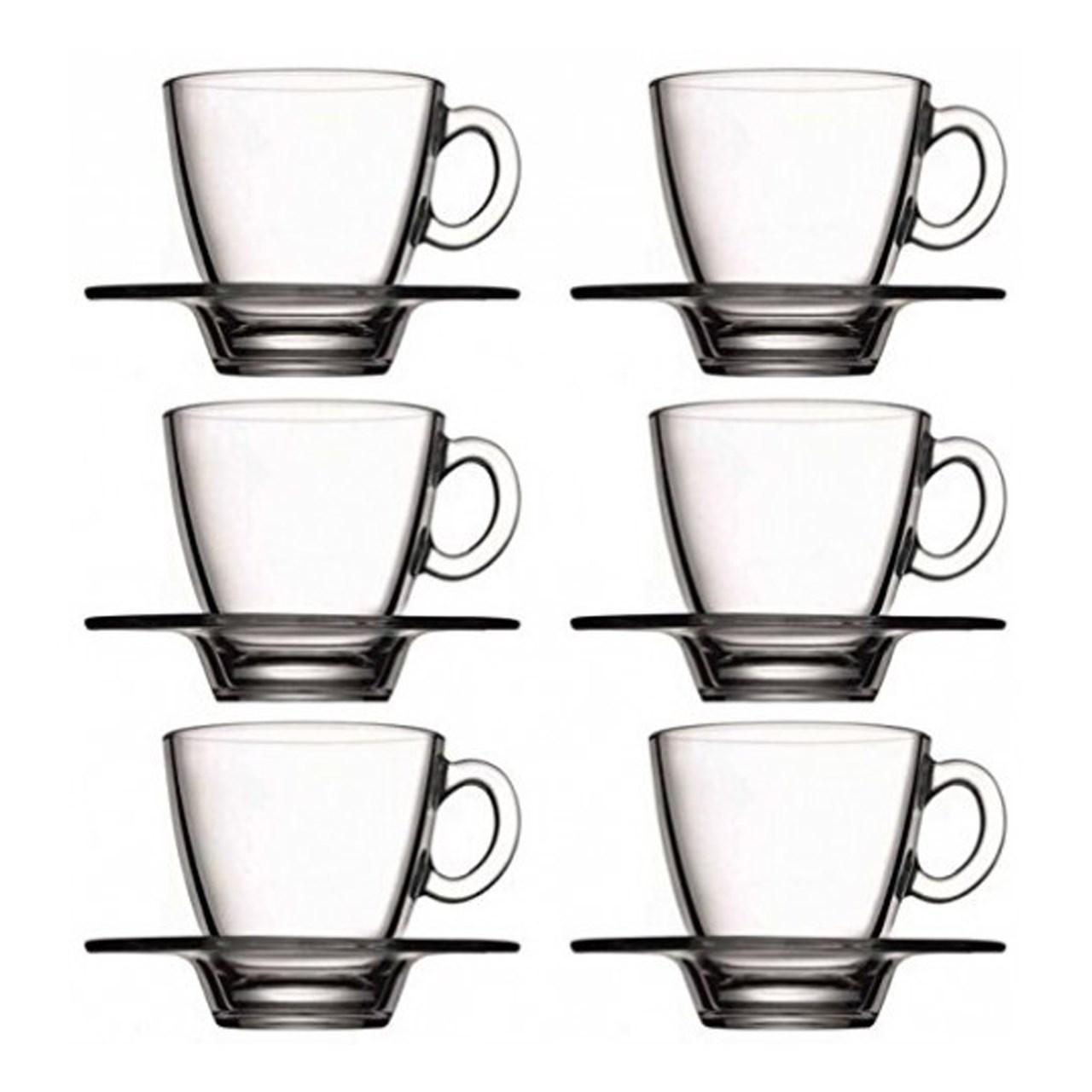 عکس ست فنجان و نعلبکی پاشاباغچه مدلAqua کد 95040 -بسته 6 عددی
