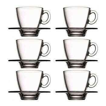 ست فنجان و نعلبکی پاشاباغچه مدلAqua کد 95040 -بسته 6 عددی