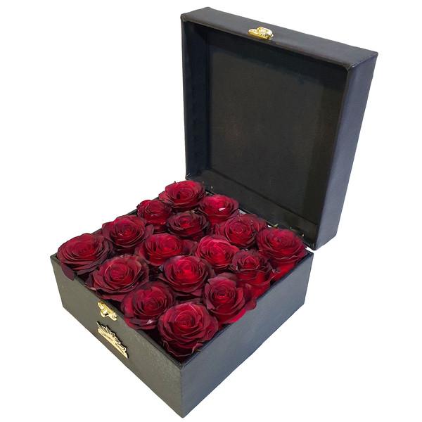 جعبه گل رز هلندی کلبه گل سن سون مدل BX-22075