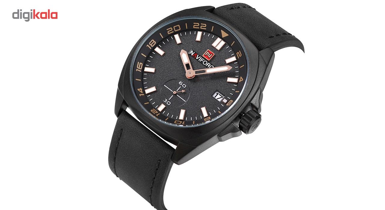 ساعت مچی عقربه ای مردانه نیوی فورس مدل NF9104M/BBGW