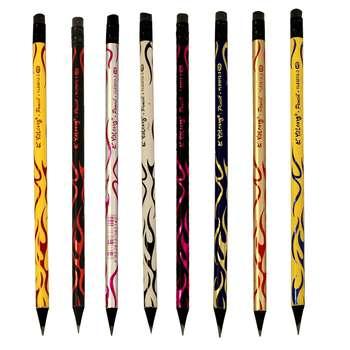 مداد مشکی یالانگ طرح رعد بسته 8 عددی