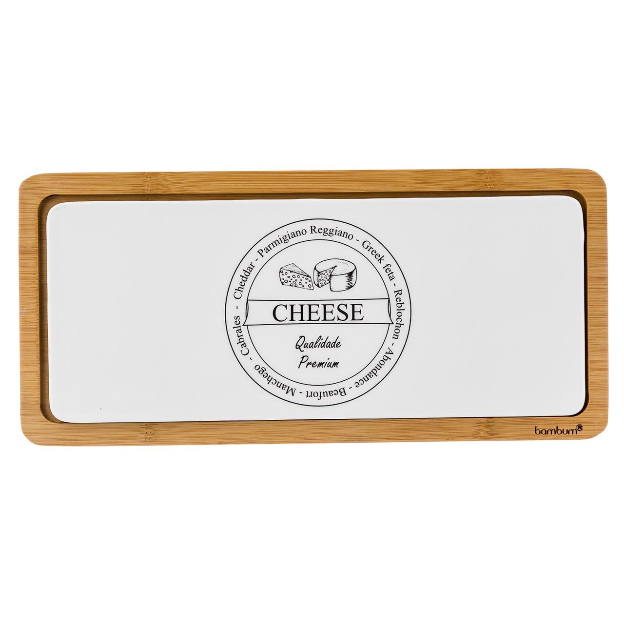 ست تخته برش پنیر 2 پارچه بامبوم مدل BB0299