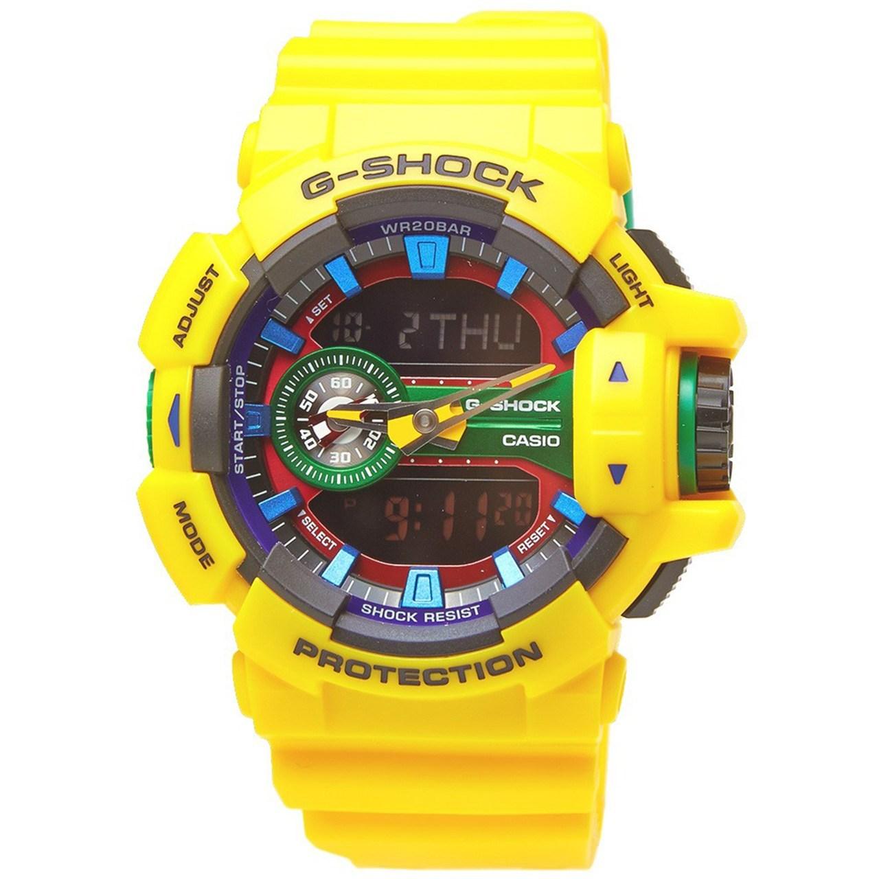 ساعت مچی عقربه ای مردانه کاسیو جی شاک مدل G-Shock GA-400-9ADR 19