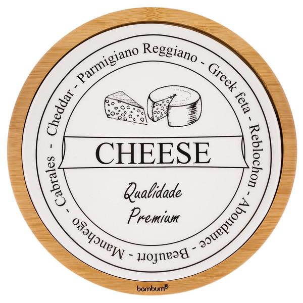 ست تخته برش پنیر 2 پارچه بامبوم مدل BB0297