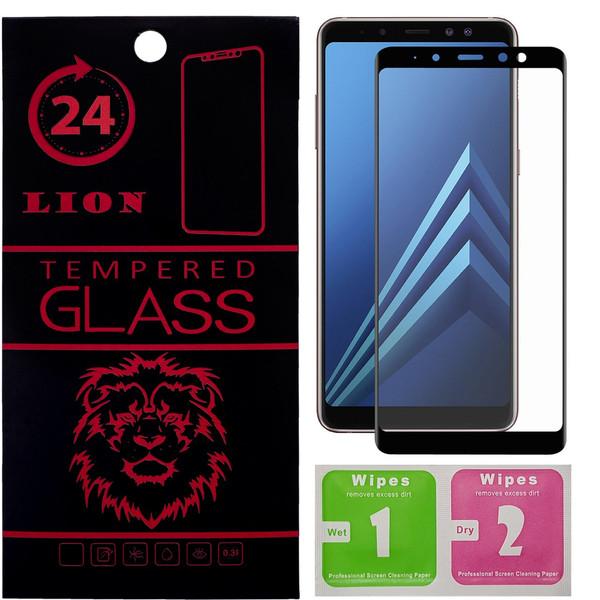 محافظ صفحه نمایش شیشه ای لاین مدل 3D Full Cover مناسب برای گوشی سامسونگ A8 2018 پلاس