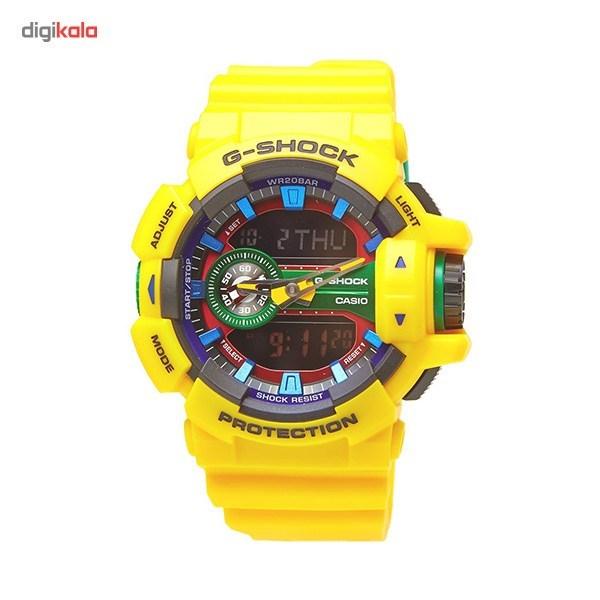 خرید ساعت مچی عقربه ای مردانه کاسیو جی شاک مدل G-Shock GA-400-9ADR | ساعت مچی
