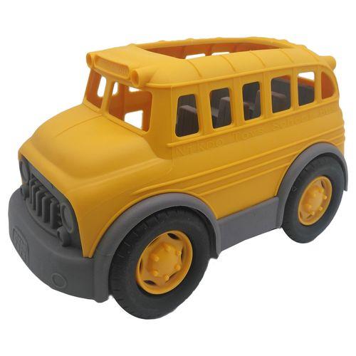ماشین اسباب بازی کیدتونز مدل اتوبوس مدرسه بهمراه بازی فکری تانگرام