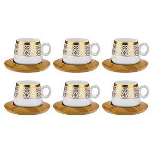 ست فنجان و نعلبکی 12 پارچه بامبوم مدل BB0174