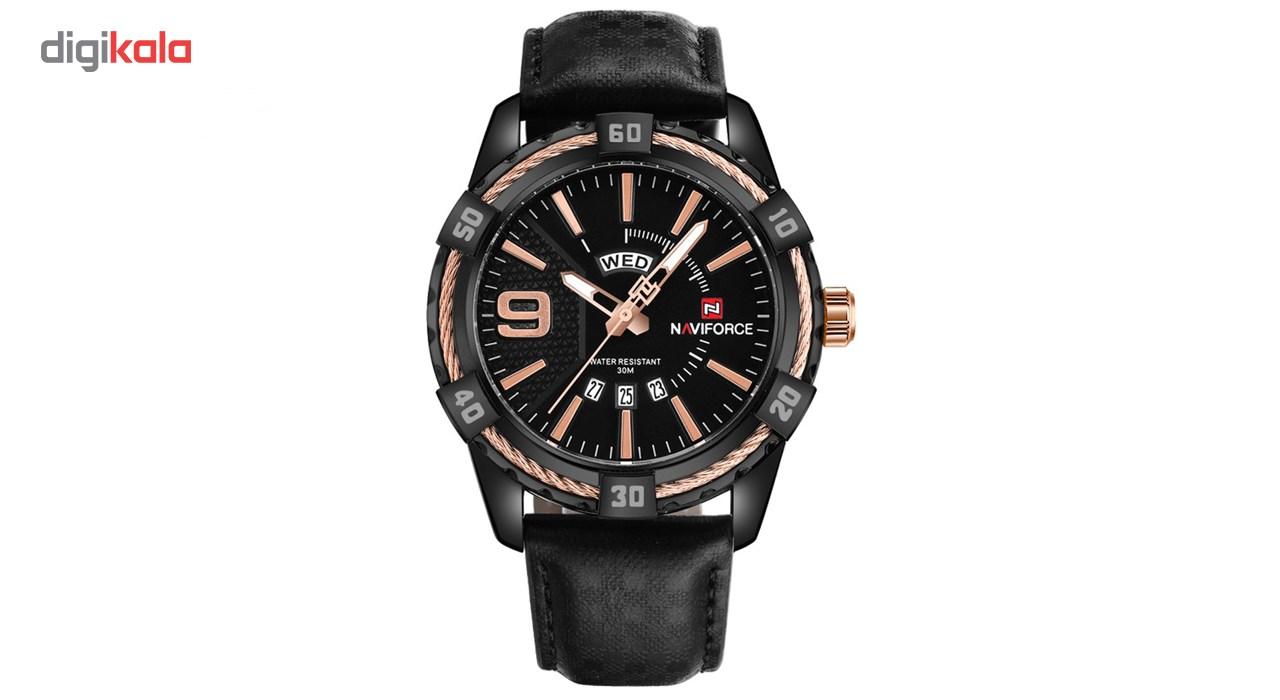 خرید ساعت مچی عقربه ای مردانه نیوی فورس مدل NF9117M/BBGG
