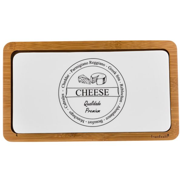 ست تخته برش پنیر 2 پارچه بامبوم مدل BB0300