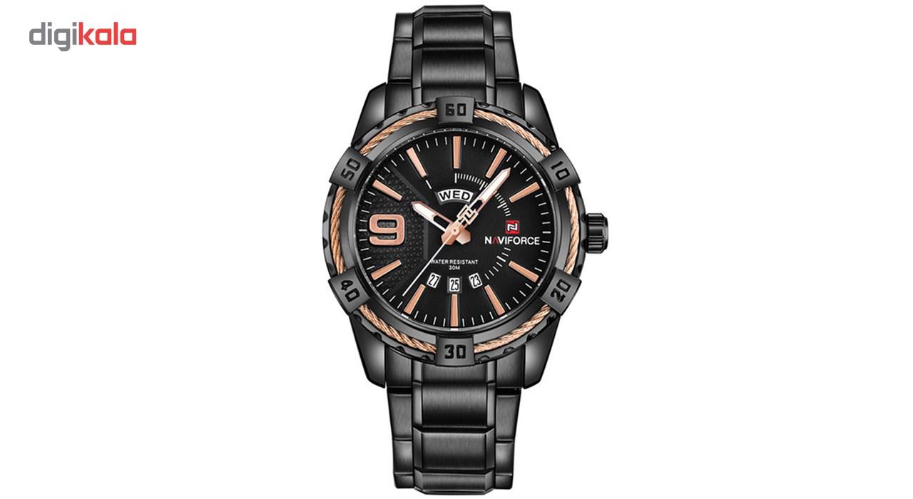 خرید ساعت مچی عقربه ای مردانه نیوی فورس مدل NF9117M/BBRG