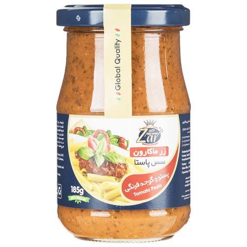 سس پاستا پستو و گوجه فرنگی زر ماکارون مقدار 185 گرم