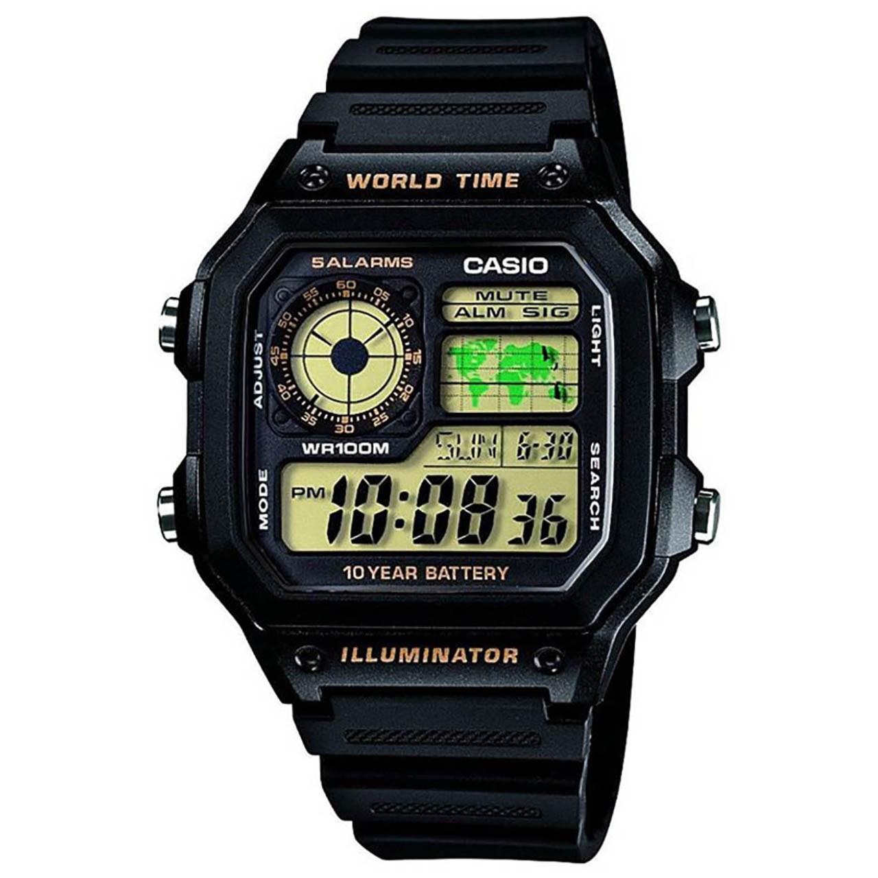 ساعت مچی دیجیتالی  کاسیو مدل AE-1200WH-1BVDF 11
