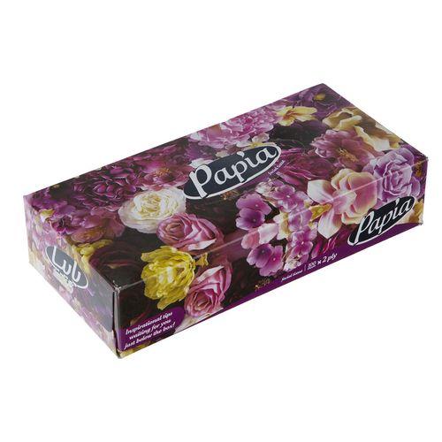 دستمال کاغذی 100 برگ پاپیا مدل Flower
