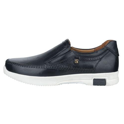 کفش مردانه چرم طبیعی استینگ مدل F1 مشکی