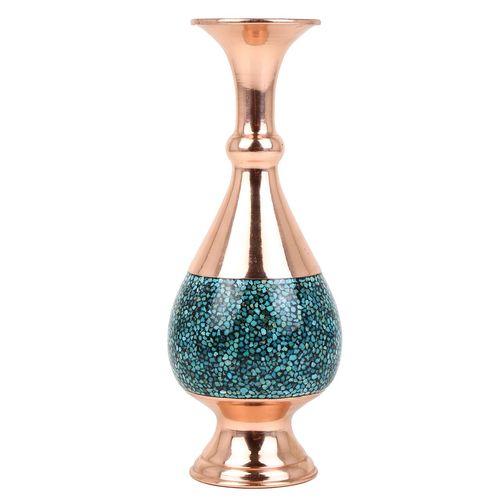 گلدان مسی فیروزه کوب گالری گوهران مدل صراحی کد 1407