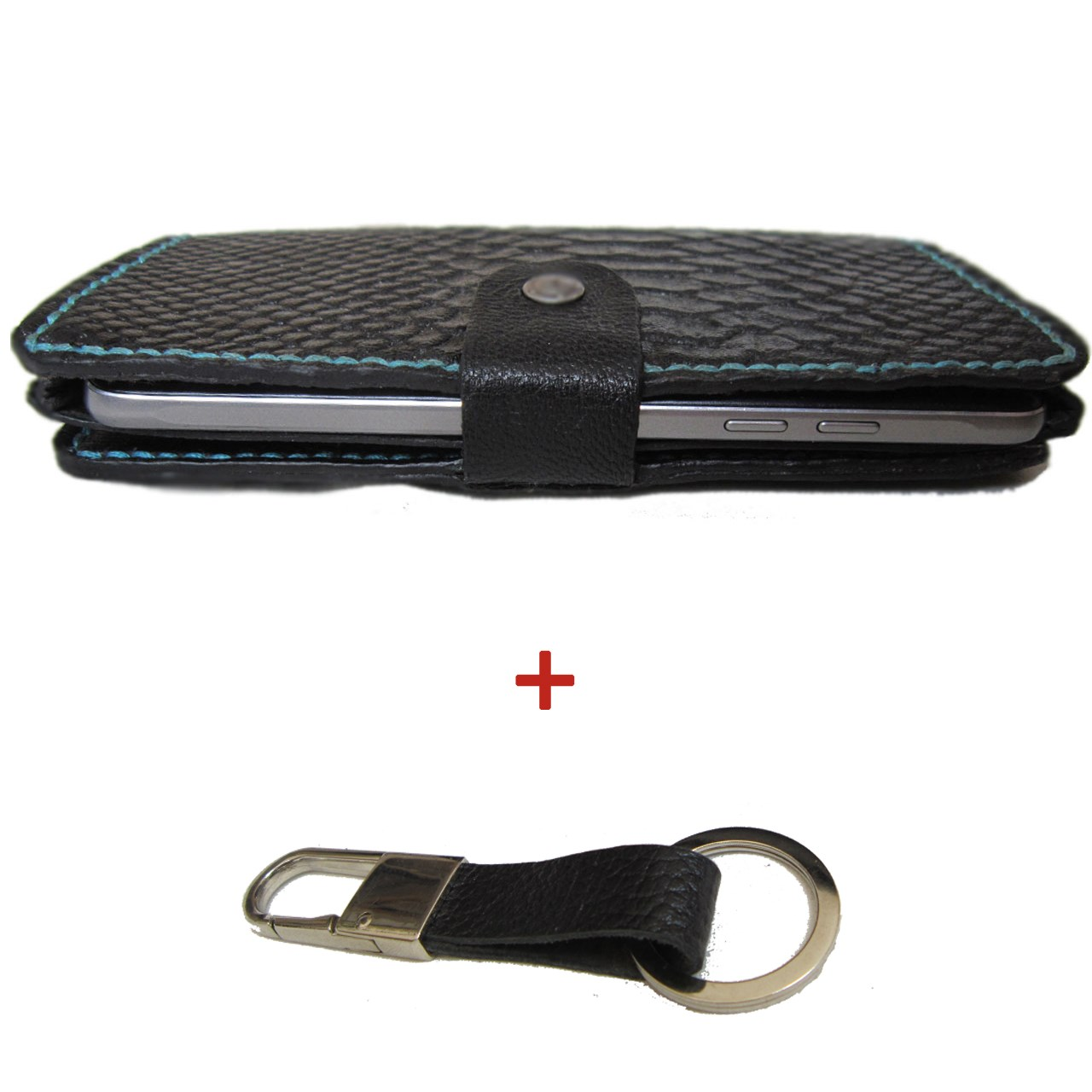 کیف پول و موبایل  چرم طبیعی دستدوز  مژی مدل MOB1