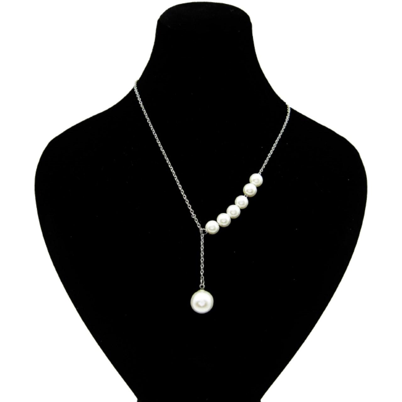 گردنبند زنانه طرح مروارید کد E014