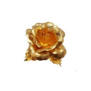 گل سینه مارک گلد مدل گل رز کد 666
