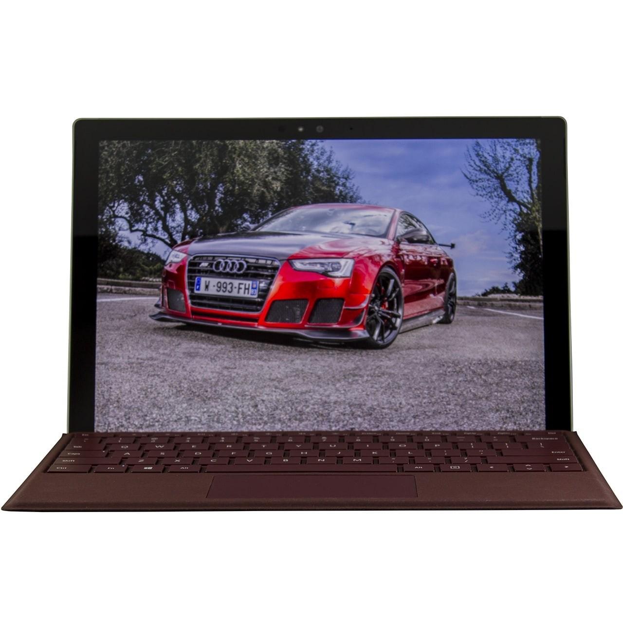 تبلت مایکروسافت مدل Surface Pro 2017 - E به همراه کیبورد سیگنیچر کبود و کیف Golden Guard - ظرفیت 512 گیگابایت