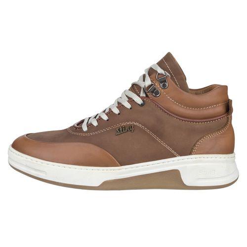 کفش مردانه چرم طبیعی استینگ مدل S2 عسلی