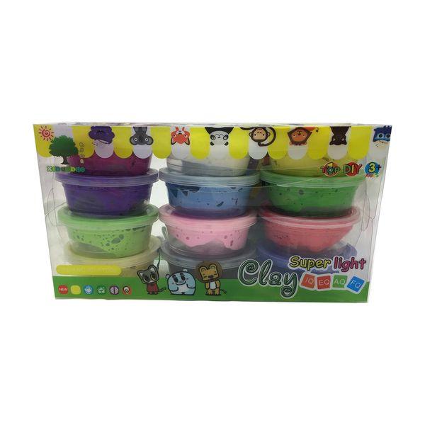 خمیر بازی مدل CLAY مجموعه 12 عددی