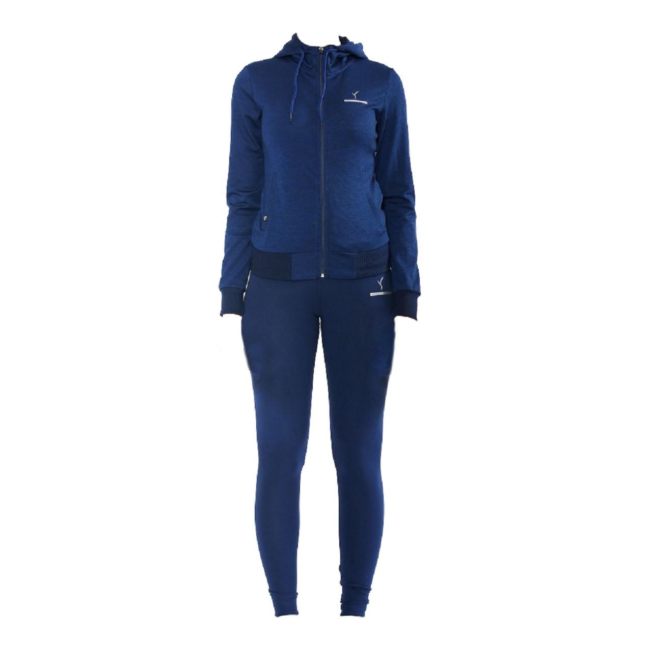 ست گرمکن و شلوار ورزشی زنانه اسپید لایف مدل ITALY D.BLUE