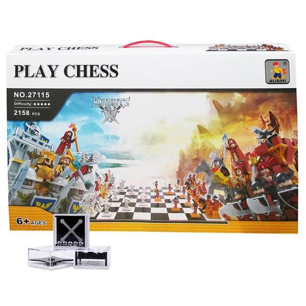ساختنی شطرنج آسینی مدل play chess 27115 همراه با ست 3 عددی تعادل