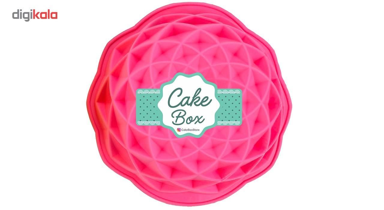 قالب پلاستیکی کیک و دسر کیک باکس کد 1037 مدل هندسی متوسط main 1 3