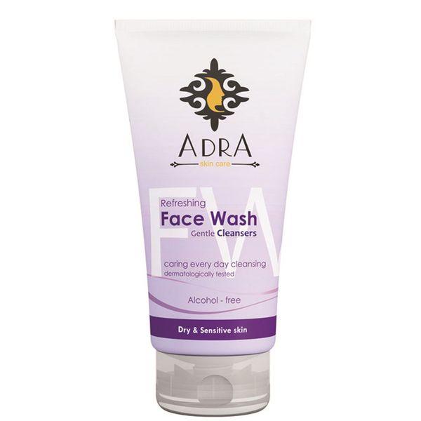 ژل شستشوی صورت آدرا مخصوص پوست های حساس حجم 150 میلی لیتر