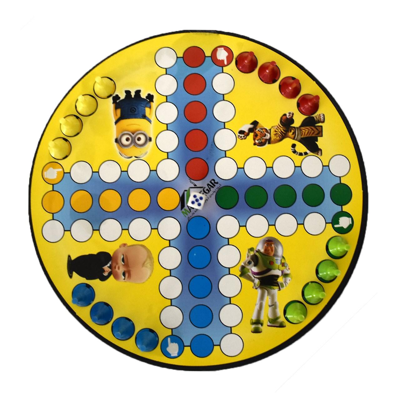 بازی منچ و مار مدل گرد کد Na1013