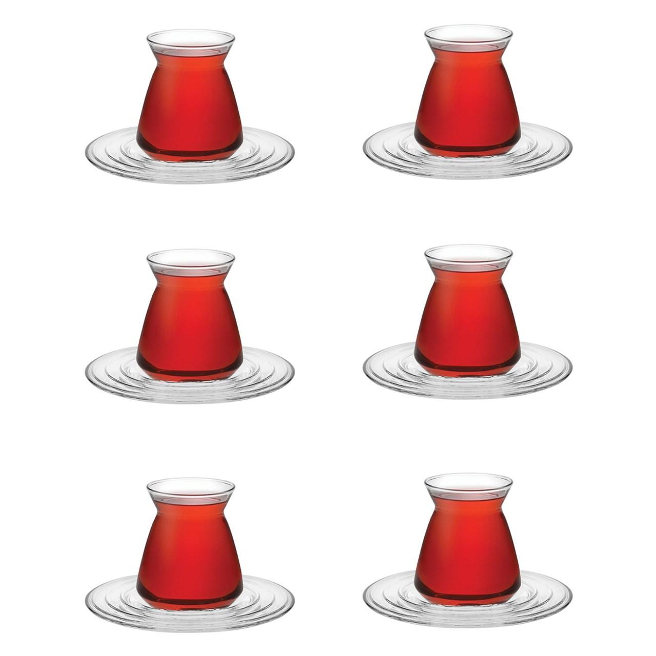 استکان پاشاباغچه سری Samanyolu کد 96573 بسته 6 عددی
