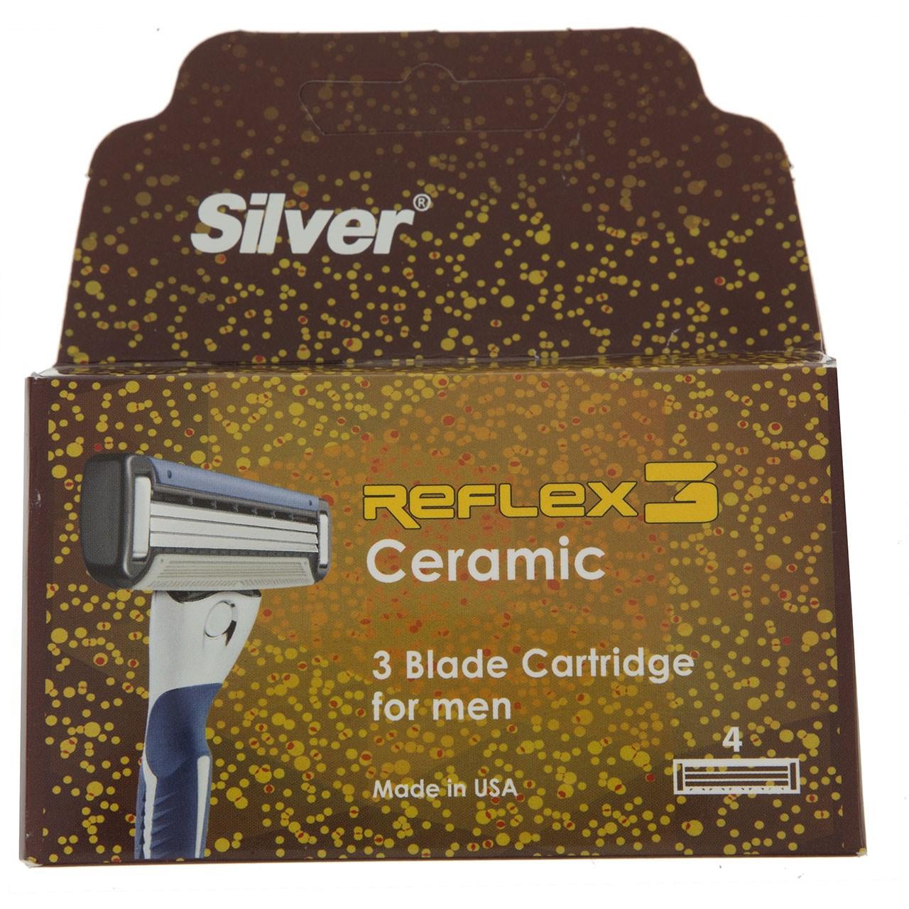 تیغ یدک سیلور مدل Reflex 3 بسته 4 عددی