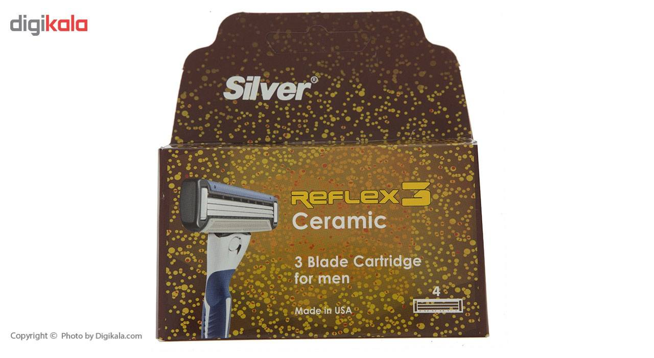 تیغ یدک سیلور مدل Reflex 3 بسته 4 عددی main 1 1