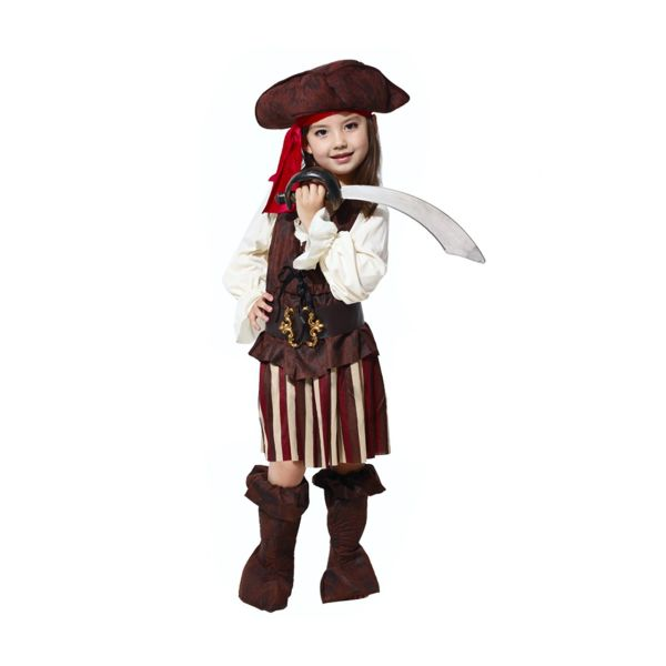 تن پوش گیفت تاور مدل دزد دریایی دخترانه طرح 2 سایز L