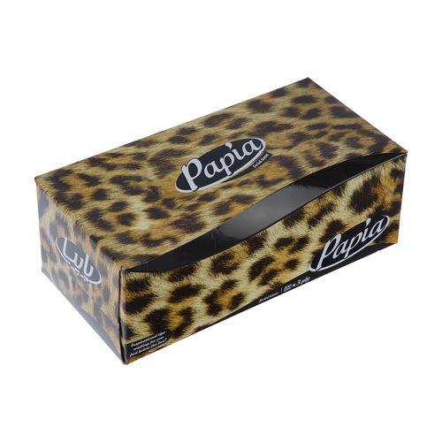 دستمال کاغذی 100 برگ پاپیا مدل Tiger