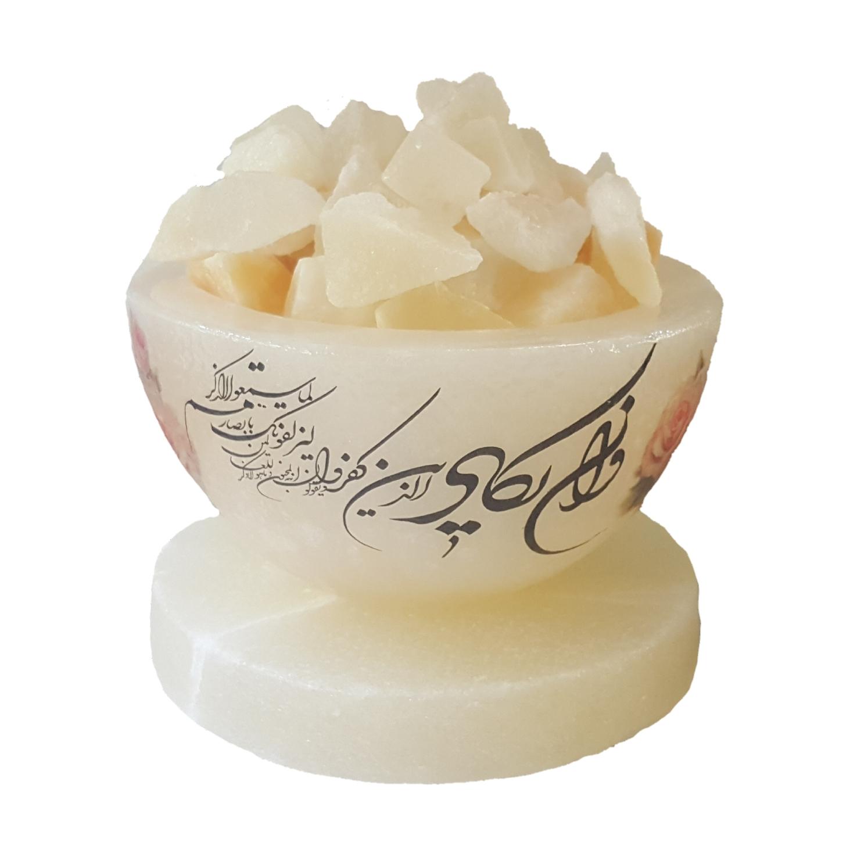 آباژور سنگ نمک طرح شکلات خوری کد 111222