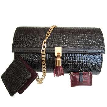 کیف چرم دستدوز مژی مدل L2