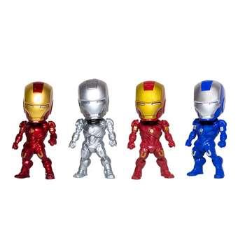 مجموعه فیگور PVC  مدل آیرون من Iron Man اندازه 10 سانتی متری بسته 4 عددی