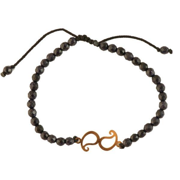 دستبند طلا 18 عیار زویا مدل MP-974-35