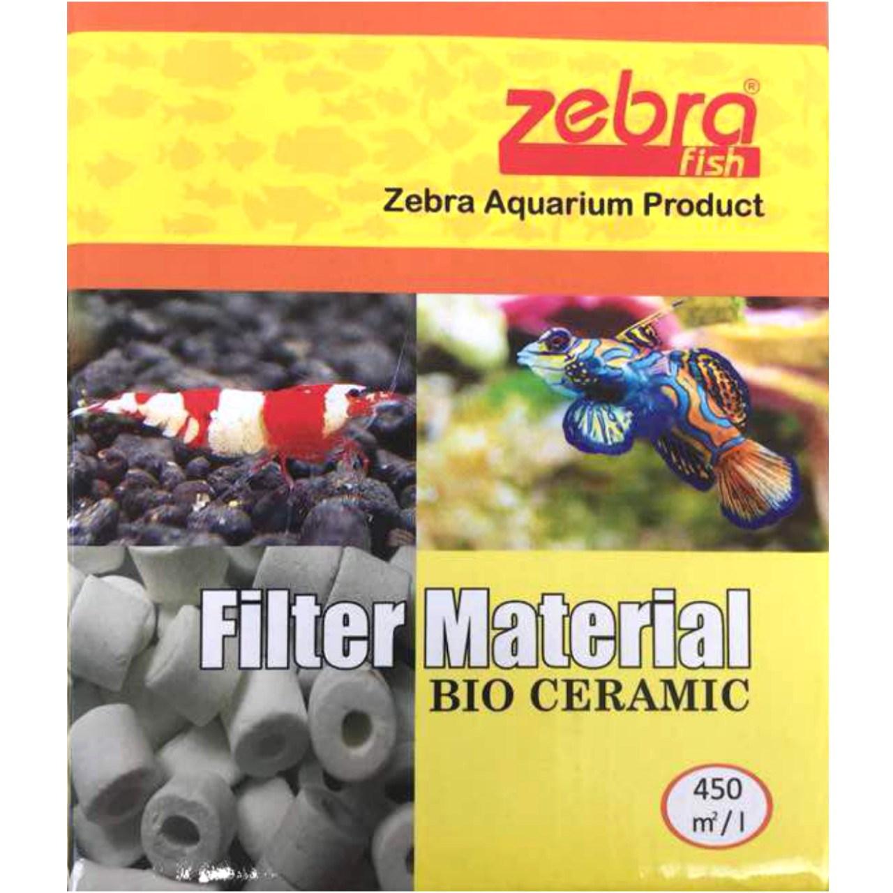 سرامیک آکواریوم  زبرا فیش مدل Filter Material Bio Ceramic وزن 450 میلی لیتر