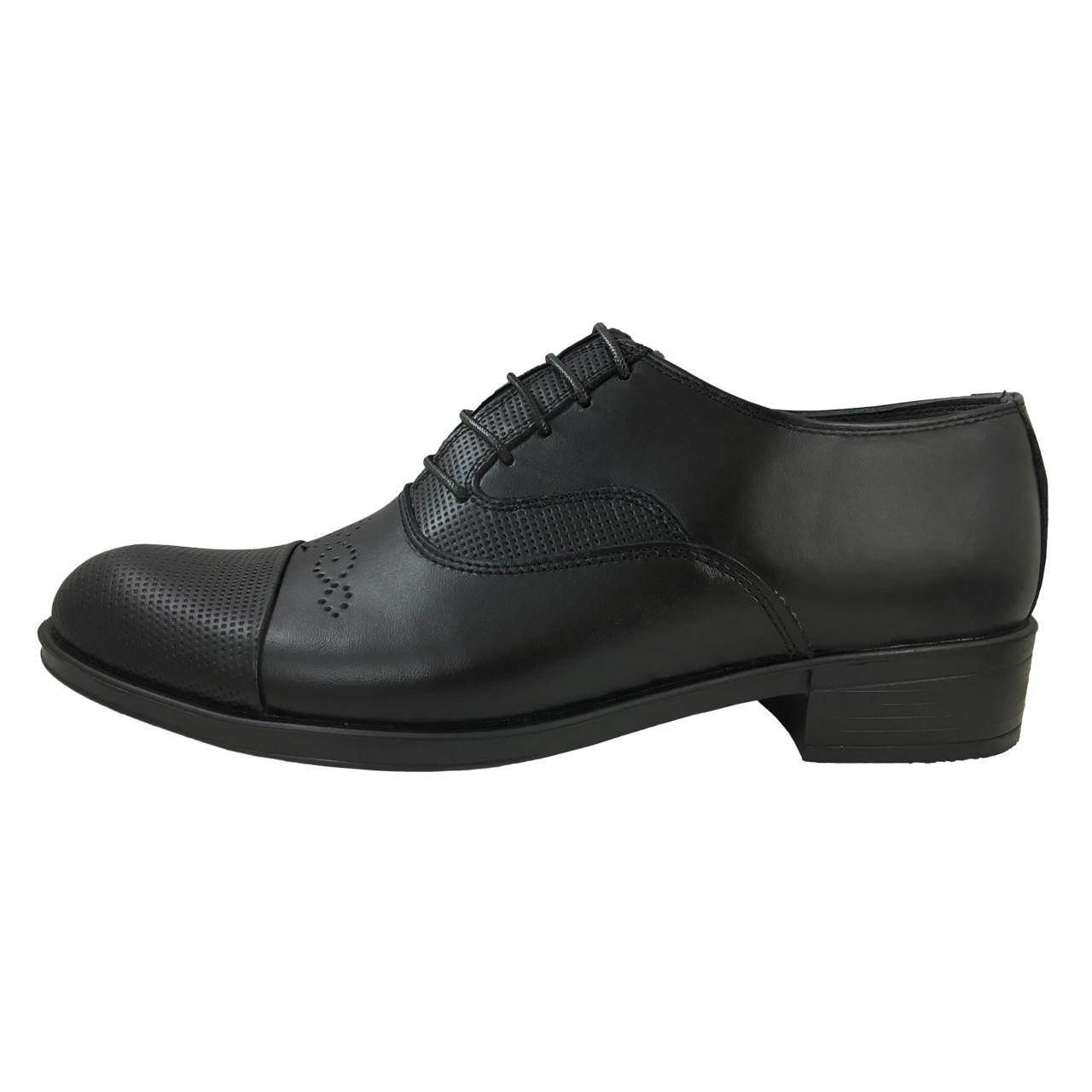 کفش  چرم طبیعی مردانه پای آرا مدل 3037 کد 2205