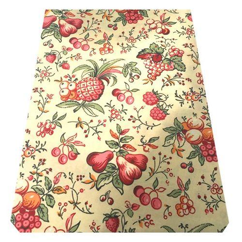 رومیزی کتان مربعی 150 × 150 رزین تاژ طرح تمشک