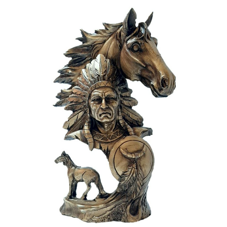 خرید                      مجسمه طرح اسب و سرخ پوست کد GH-1039