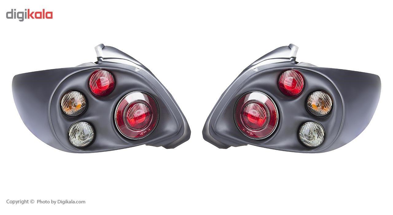 چراغ خطر عقب 206 چپ و راست مدل Morette Hella