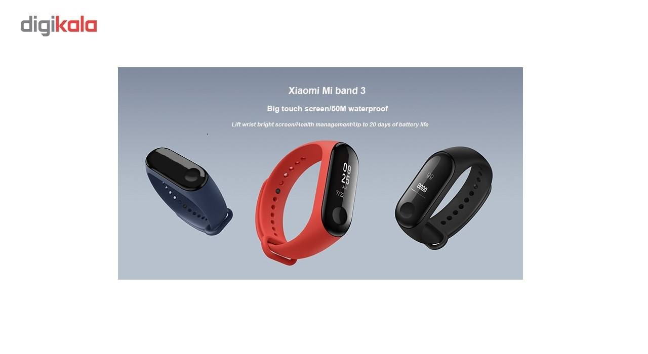 مچ بند هوشمند شیائومی مدل Mi Band 3 - دستبند هوشمند