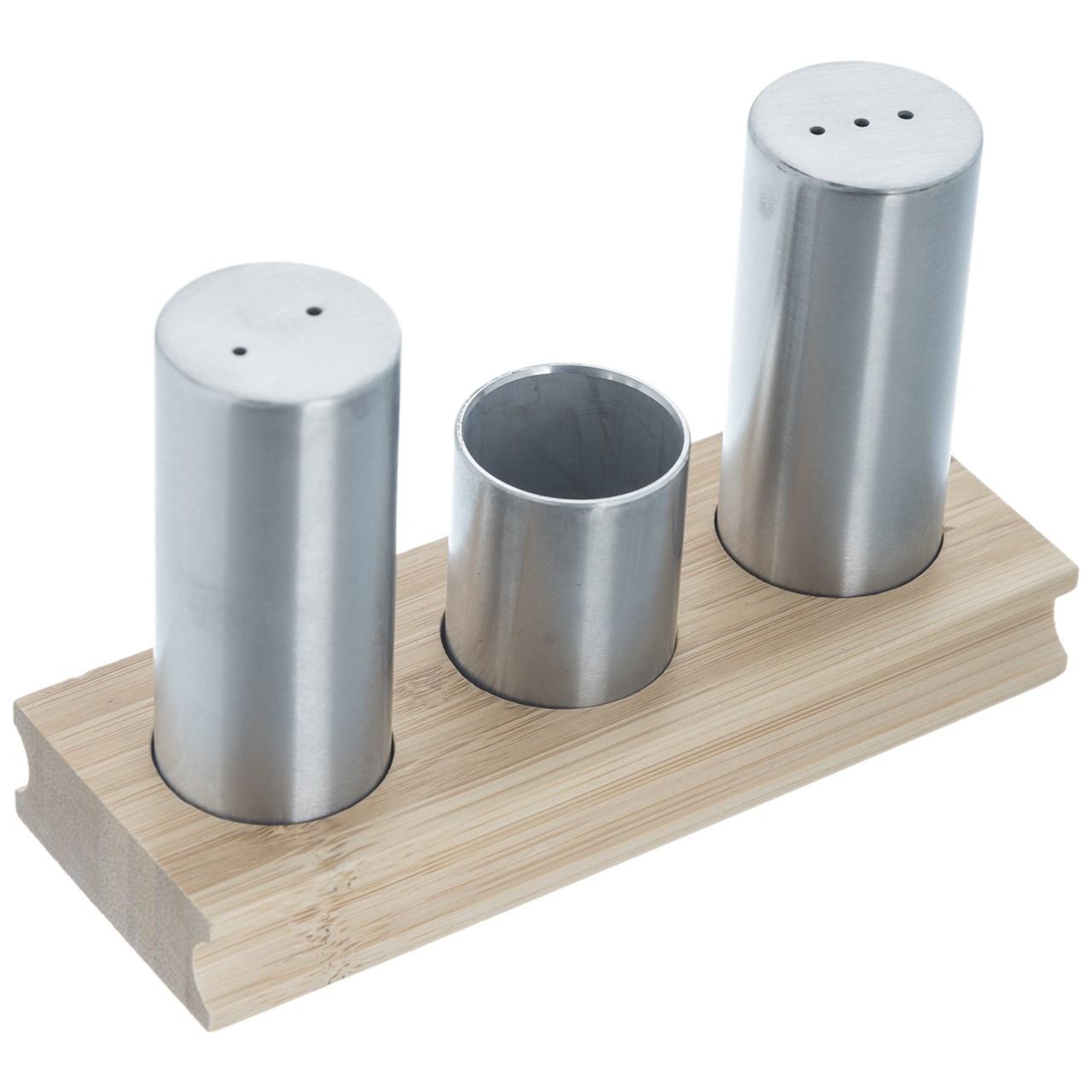 ست نمک و فلفل پاش 4 پارچه بامبوم مدل BB0200